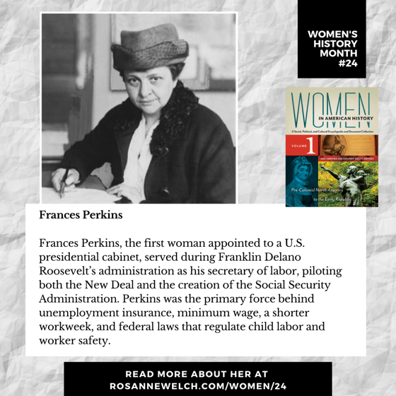 Women's History Month 23: Frances Perkins