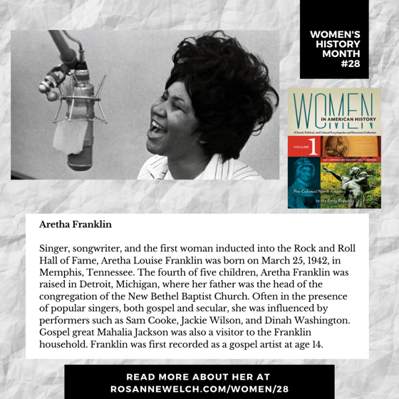 Women's History Month 28: Aretha Franklin