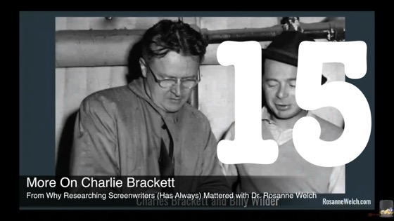 15 More On Charlie Brackett from Why Researching Screenwriters (has Always) Mattered