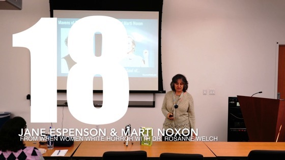18 Jane Espenson & Marti Noxon from When Women Write Horror with Dr. Rosanne Welch [Video] (1 minute 9 seconds)