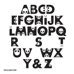 Skull font sample