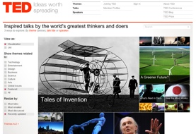 TED Conference Web Site Screen Shot