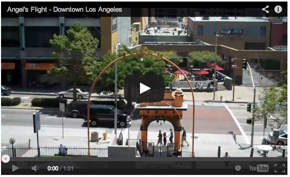 Video: A ride down Angel's Flight in Downtown Los Angeles