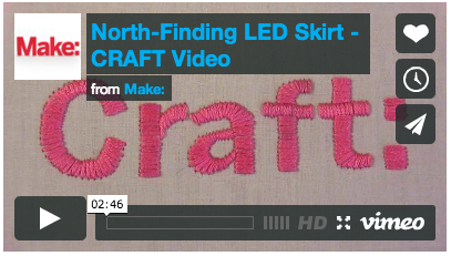 Cool Project: North Finding Skirt from Maker Faire 2010