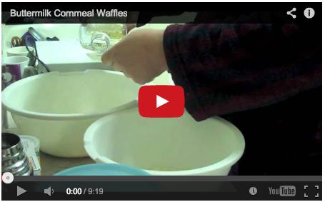 Video: Making buttermilk cornmeal waffles