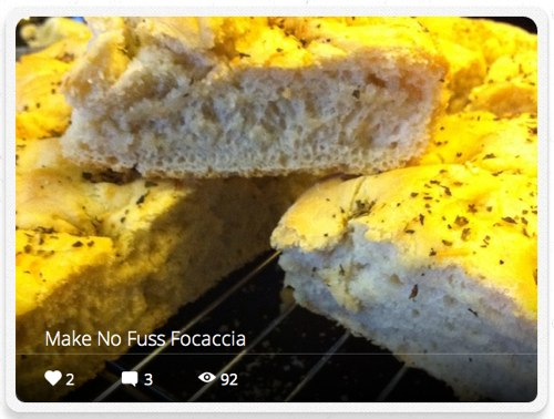 My Word…on Food! – Making No-Fuss Focaccia – A Snapguide