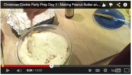 Video: Cookie Party Prep – Day 1 – Making Peanut Butter and Chocolate-Walnut Fudge
