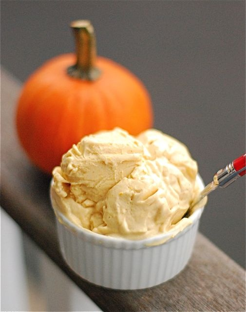 Recipe: Pumpkin Frozen Yogurt – 4 ingredients