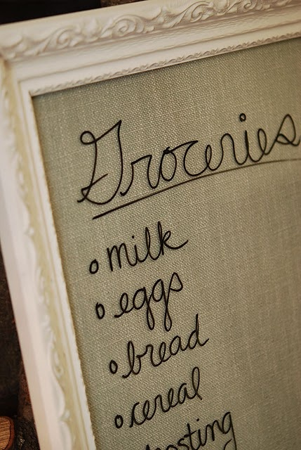 DIY: Make an inventive Dry Erase board from old picture/poster frame