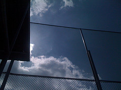 Photo: Intersecting angles in the sky