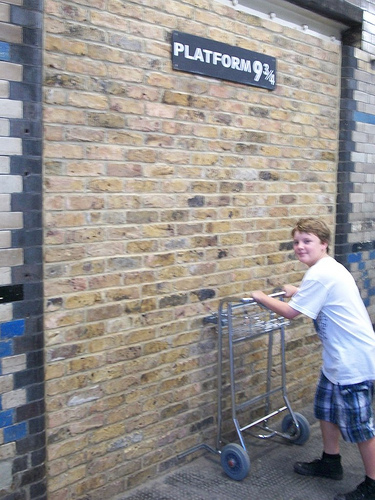 Photo: Joe is off to Hogwarts!