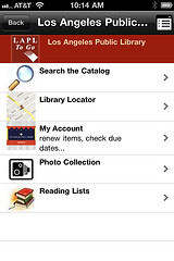 LA Public Library now has mobile app for search and circulation
