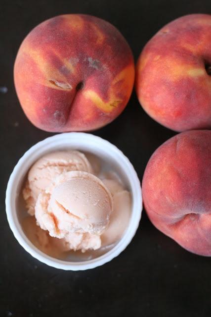 Elsewhere: Homemade peach frozen yogurt