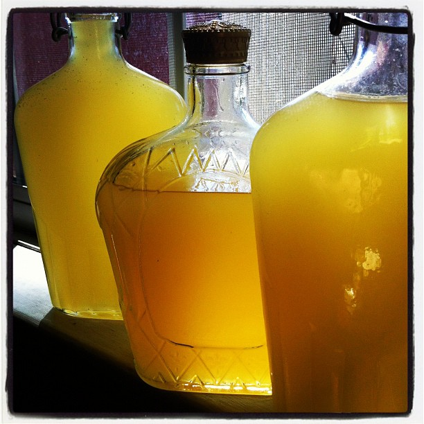 Homemade Limoncello finished