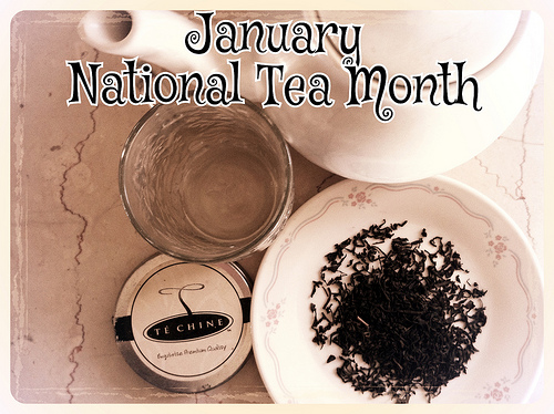January is National Hot Tea Month #kitchenparty