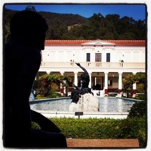 Photo: The Getty Villa fountain and gardens