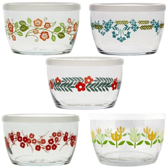 In The Kitchen: Vintage Flower Storage Bowls