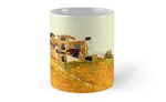 """Villa in the Vineyard Watercolor"" Totes, bags, mugs, cards and more!"