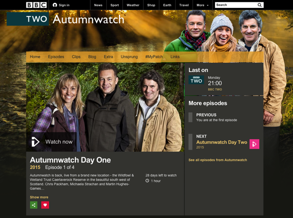 TV Worth Watching: Autumnwatch 2015 from the BBC