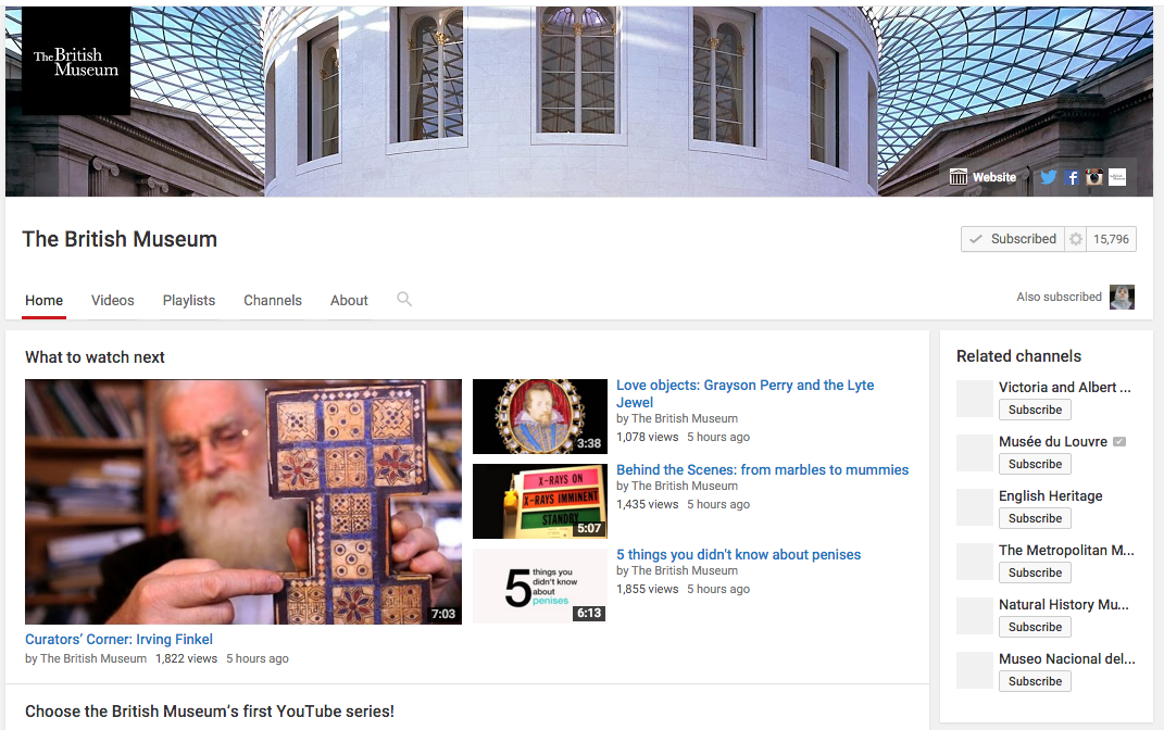 Noted: Choose the British Museum's new YouTube series