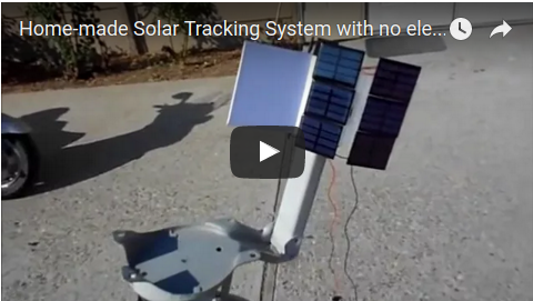 Liked: Home-made Solar Tracking System with no electronics for solar panel or solar oven [Video]