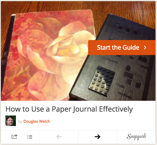 Tip: How to Use a Paper Journal Effectively via SnapGuide