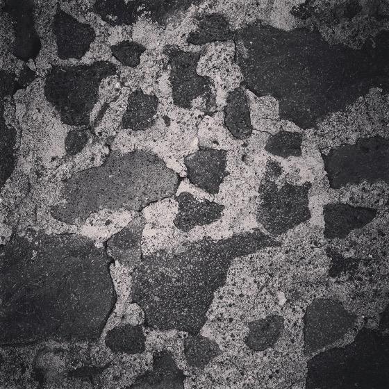 Lava stone wall via Instagram [Photo]