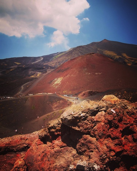 View of Mount Etna from Silvestri Crater via Instagram [Photo]