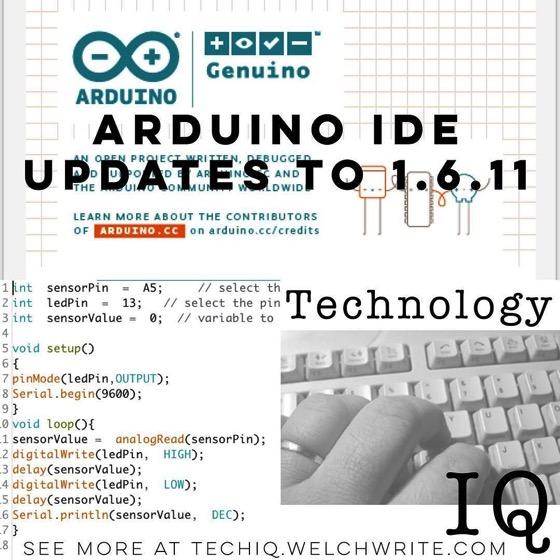 Arduino IDE Updates to 1.6.11 – Read more on TechnologyIQ  via Instagram [Photo]