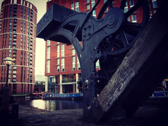 Canal Crane, Liverpool and Leeds Canal, Leeds, UK via Instagram [Photo]