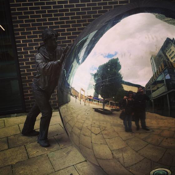 Sculpture at Leeds Dock