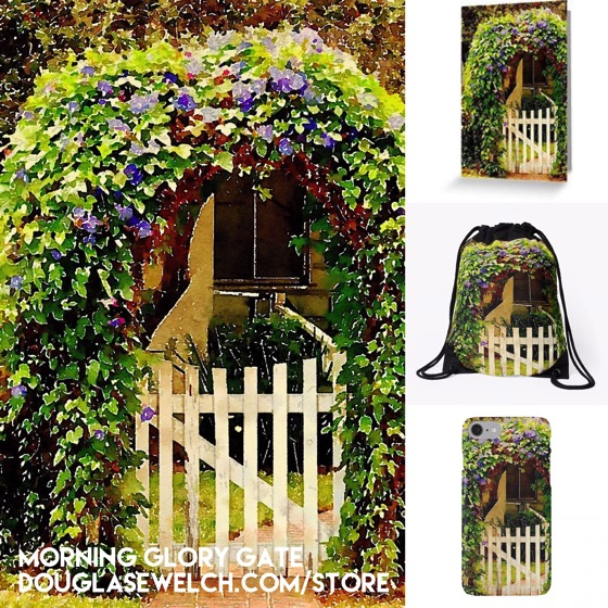 """Get these """"Morning Glory Gate"""" products and much more exclusively from Douglas E. Welch"""