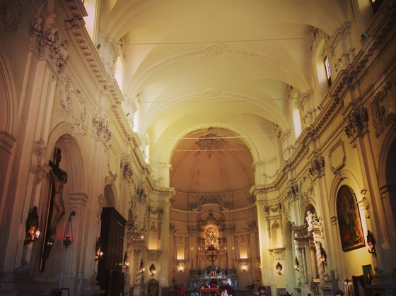 Noto Cathedral Interior via Instagram [Photo]