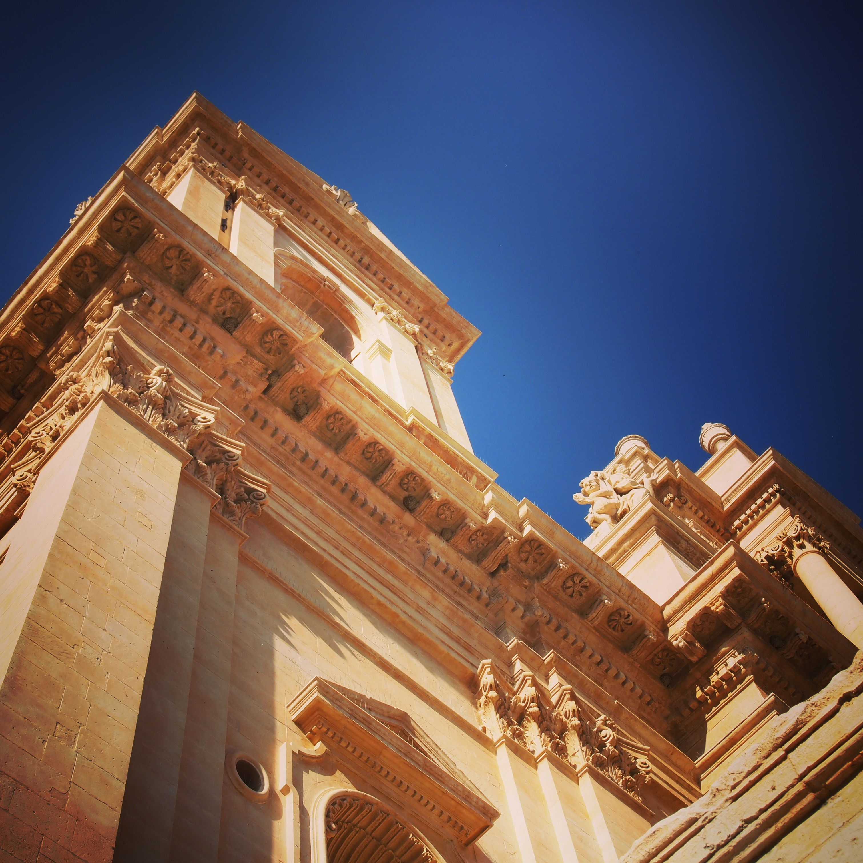 A Tower in Noto, Sicily, Italy via Instagram [Photo]