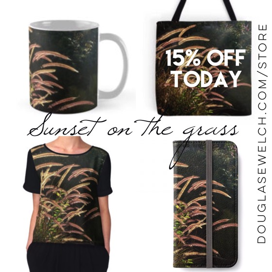 "Buy these ""Sunset on the grass"" products and much more exclusively from Douglas E. Welch"