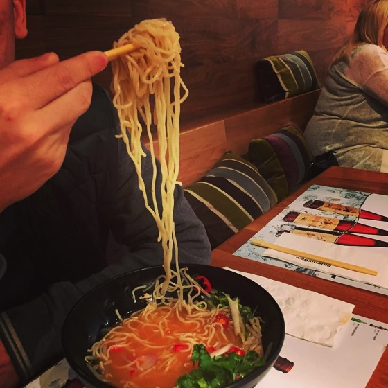 More Wagamama ramen for dinner. I ate mine before I took pictures via Instagram [Photo]