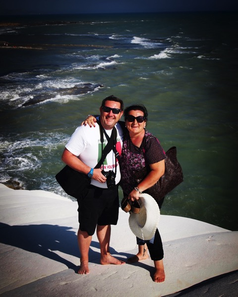 Daniela and Marcello, our cousins and hosts, at Scala dei Turchi via Instagram [Photo]
