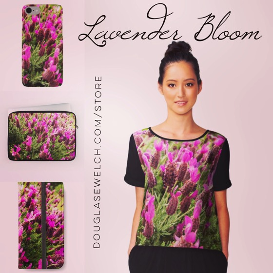 Buy Today! Lavender Bloom clothing, bags, smartphone cases and much more available exclusively from Douglas E Welch