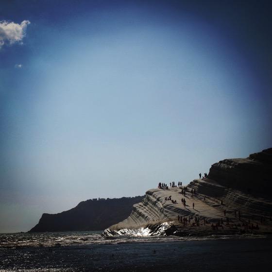 Scala dei Turchi from a distance down the beach via Instagram [Photo]