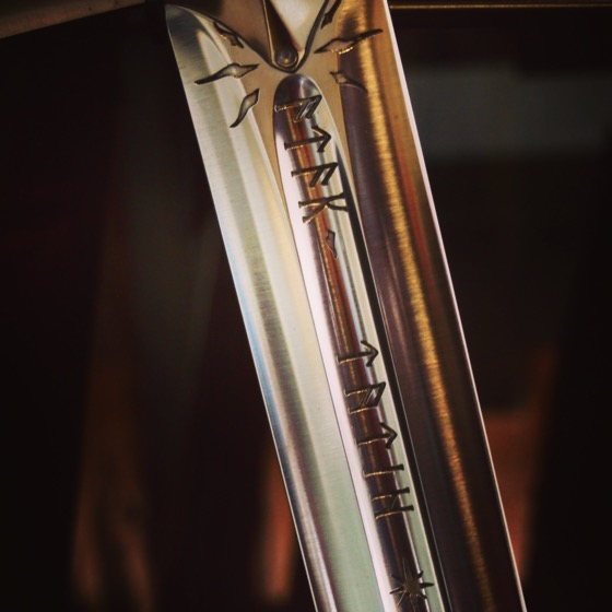Andúril, hero prop sword from The Lord of the Rings, Royal Armouries Museum, Leeds, UK [Photo]