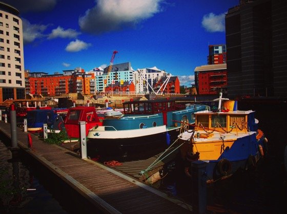 Canal Boats at Leeds Dock, Leeds, UK [Photo]