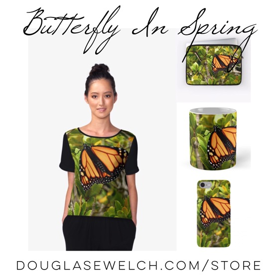 "Get these ""Butterfly in Spring"" gifts and much more exclusively from Douglas E. Welch"