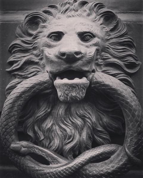 Door knocker, Catania, Sicily, Italy [Photo]