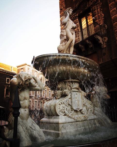 Fontana di Amenano, Catania, Sicily, Italy [Photo]