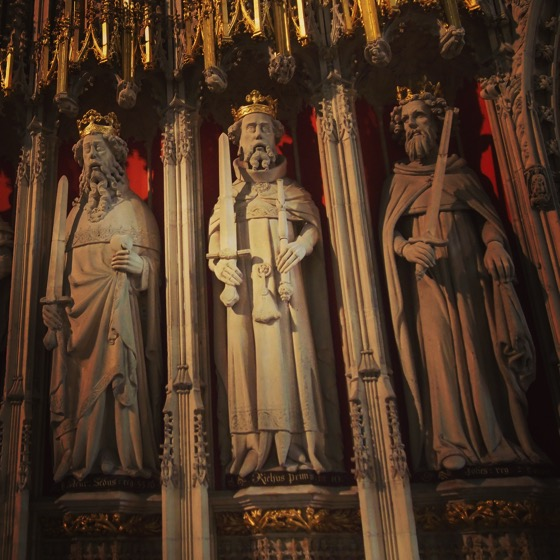 King Henry, Richard and John, York Minster, York, UK [Photo]