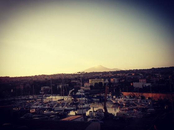Etna seen from Lungomare, Catania, Sicily, Italy [Photo]
