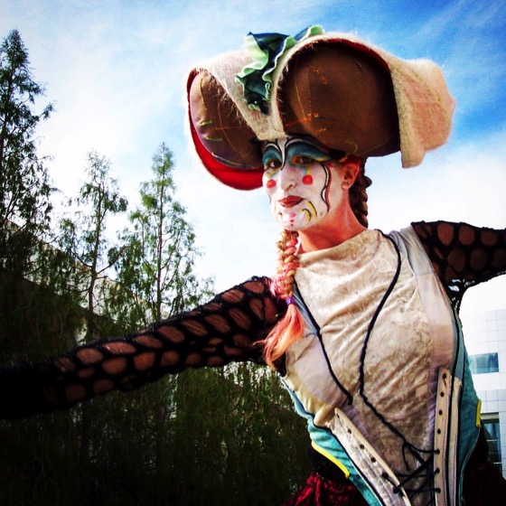 Costumed Stilt Walker, Getty Center, Los Angeles, CA [Photo]