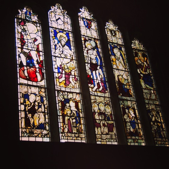Medieval Stained Glass Window, Holy Trinity Church, York, UK [Photo]