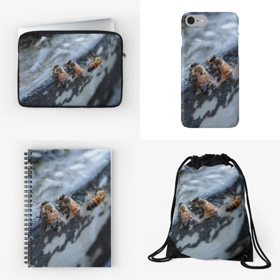 """Be a busy bee 🐝 with these """"Bees Take A Drink"""" iPhone cases, bags 💼 and notebooks 📓 exclusively from Douglas E. Welch"""