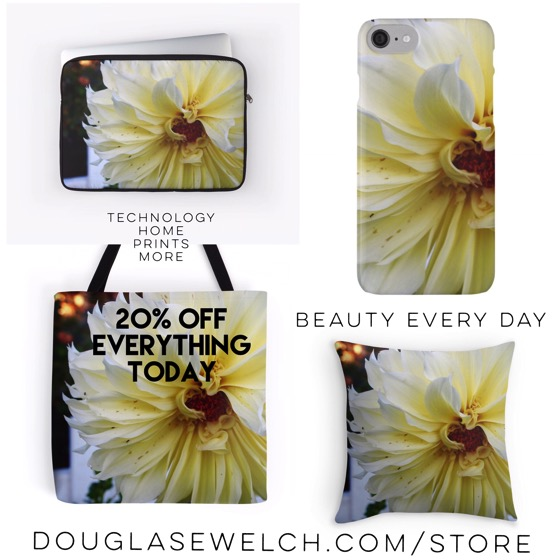 """Buy these """"Yellow Dahlia"""" Home & Technology items exclusively from Douglas E. Welch"""